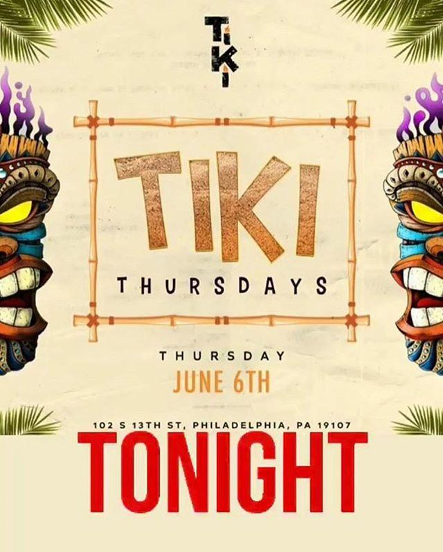 Come out tonight for Tiki Thursday's ft quitehype . It's most definitely going to be hype. 🎉 🔹🔹 #tiki #tikibar #dj #phillydjs #tikithursdays