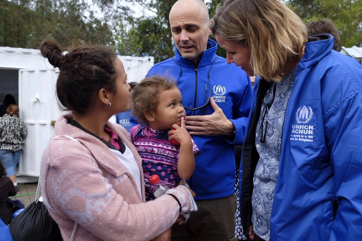 The situation in #Venezuela is worsening by the day. The majority of those fleeing the country are #refugees , require the protection of other countries, and need our urgent support. I am in Ecuador, listening to their stories and they need your help: https://donate.unhcr.org/venezuela