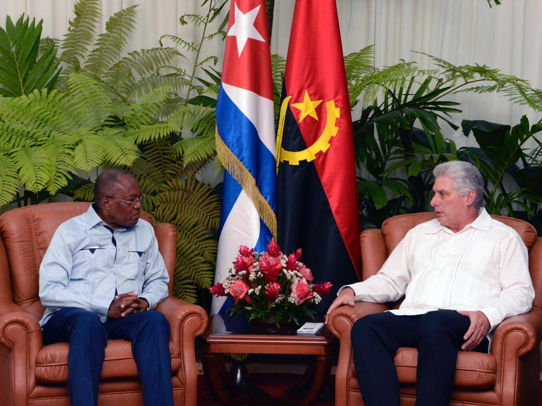 Diaz-Canel Receives Angolan Foreign Minister