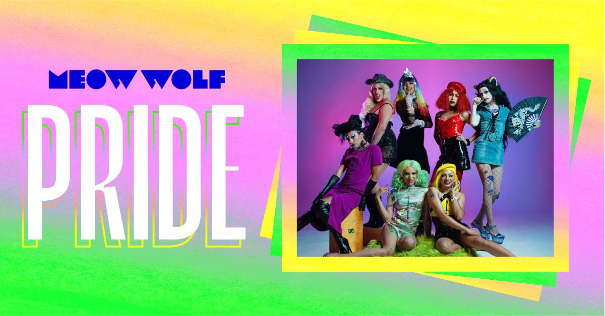 MEOW WOLF IS HOSTING PRIDE FOR THE FIRST TIME EVER! June 29th, we're honoring the 50th anniversary of the Stonewall Uprising & LGBTQIA human rights w/ a night of drag, music, and dancing 'til you (death) drop, feat Saints Ball 🌈  BUY TIX --> http://meow.wf/PRIDE    #Pride2019