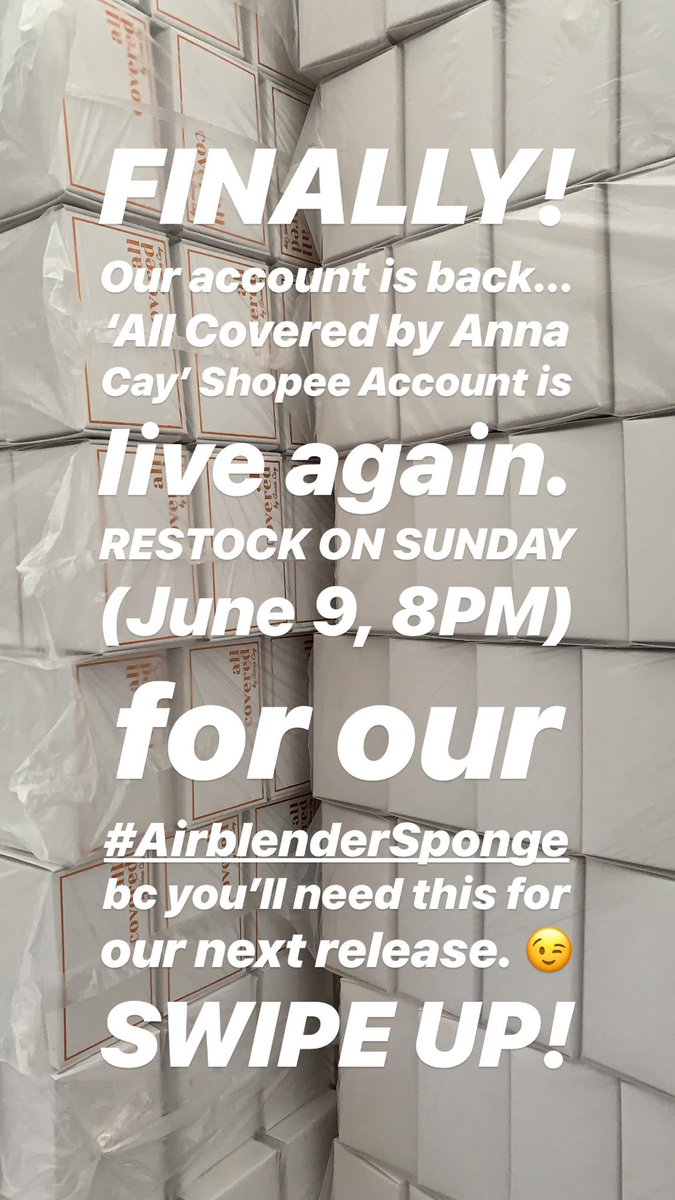 RESTOCK: June 9 (Sunday, 8PM) 💕 shopee.ph/allcoveredbyan…
