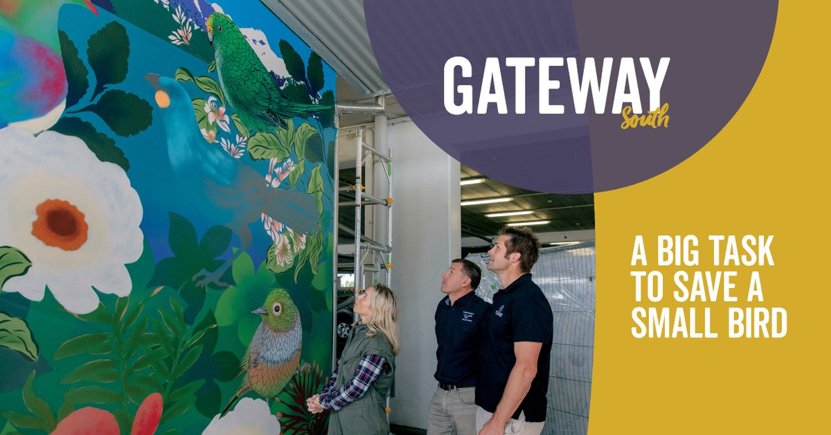 If you've been at the airport recently you've probably spotted our new street art mural by the very talented Kiwi artist Flox… but do you know the story behind it? Find out in the winter edition of our community magazine, Gateway South! christchurchairport.co.nz/en/about-us/me… #GatewaySouth