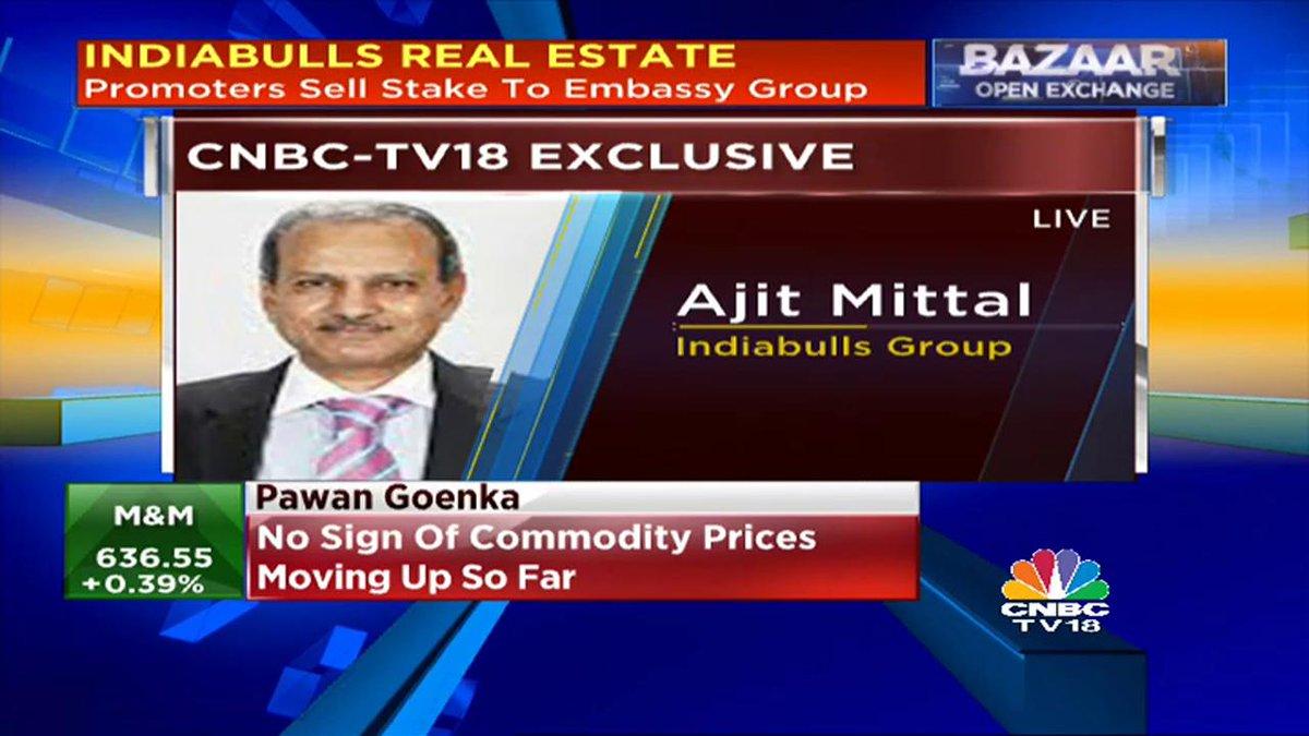 CNBCTV18Exclusive | Ajit Mittal, Indiabulls Grp:Block deal of around