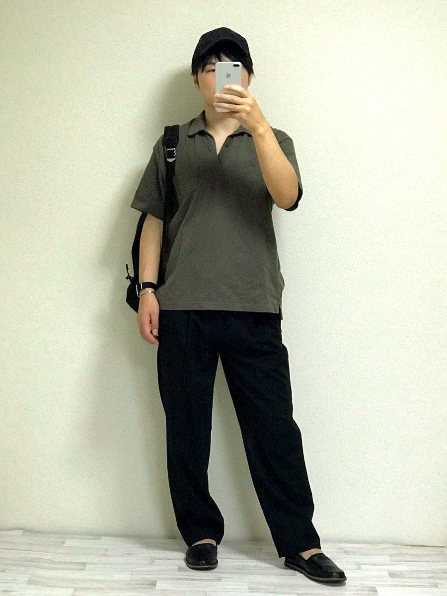 ユニクロ×エンジニアード ガーメンツのポロシャツを使ってみました😊 発売してから4回ほどユニクロをのぞいてみたけど普通の人はスルーしてたのでユニクロアイテムでも差別化できますよ👍 #ユニクロコーデ #エンジニアードガーメンツ #ポロシャツコーデ #メンズファッション #ワイドパンツコーデ