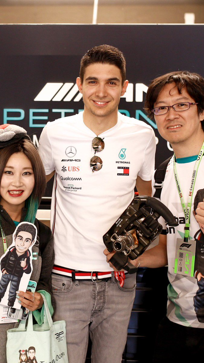 Two HUGE @OconEsteban fans ♥️  One extra special surprise... 😉  #CanadianGP