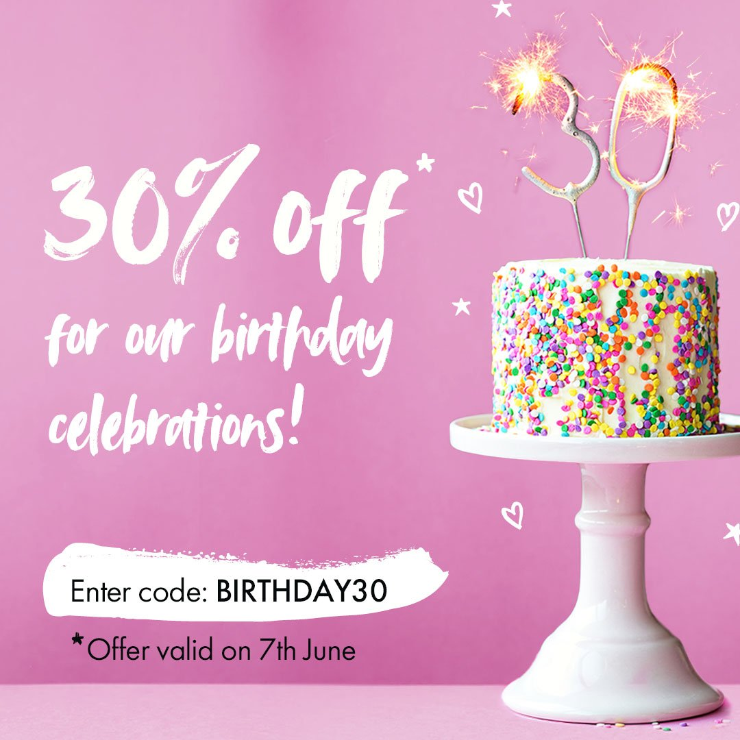 To celebrate our 30th birthday, we're giving you 30% off the full Bio-D range! 🎂🎁🎉  Visit our website to take advantage of the offer: https://biodegradable.biz/shop/  For one day only - offer valid until end of 7th June!