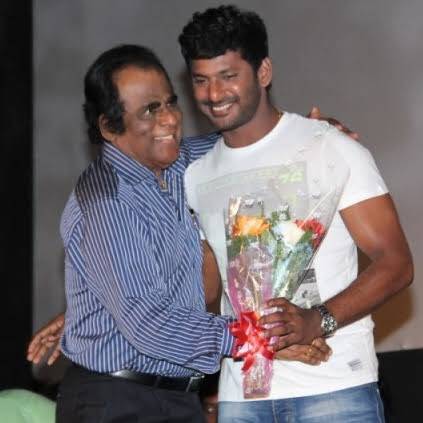 Happy birthday to the most important person in my life.the reason am known as actor Vishal. Dearest dad. My inspiration my role model my best friend. I luv u more than anything in this world. Hav a great bday dad and stay happy as always. God bless