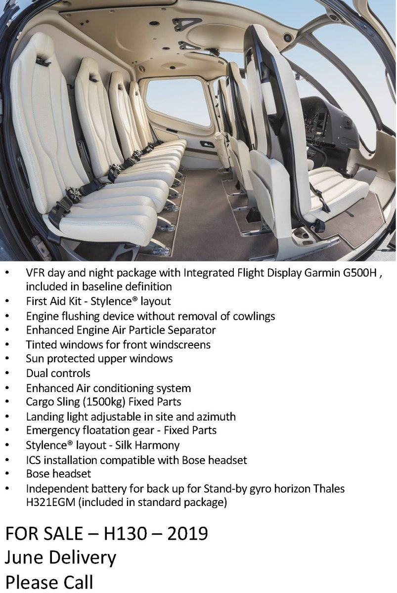 FOR SALE - H130 - 2019 #aviation #aviationlovers #aviators #avgeek #helicopter #chopper #pilotlife #pilot #flying #wings #inspiration #airplane #flight #instaaviation #instaplane #instaplanelovers #aviationlovers #Bellhelicopters #Bell #helicopterpilot #helicopterpilot