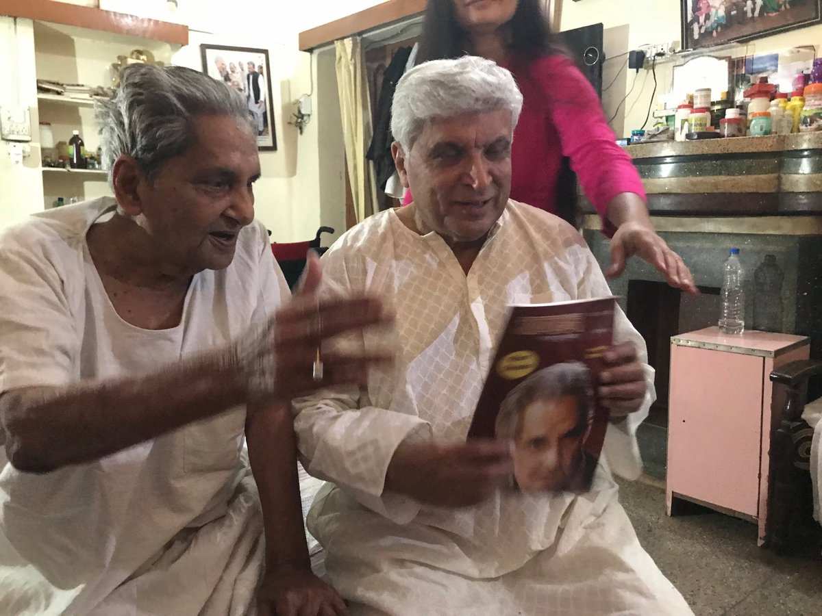 With Neeraj ji . Less than a month before is demise