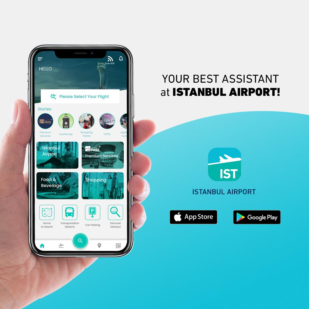 Istanbul Airport mobile application is your best assistant