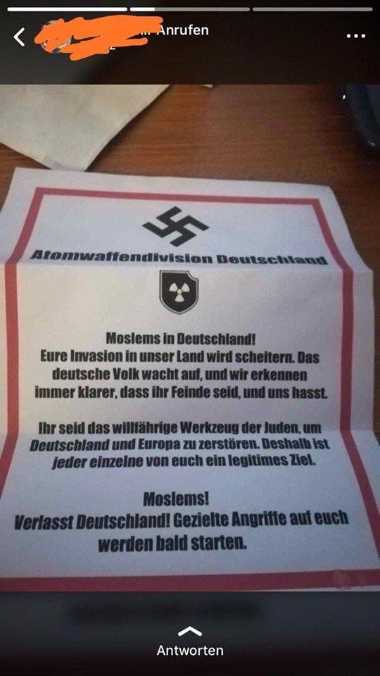 Am 09. Juni 2019 wird es in der @Keupstrasse eine Gedenkveranstaltung des #NSU-Nagelbombenattentats geben.Nun sind in #KölnMülheim Flugblätter der militanten Neonazigruppe #Atomwaffendivision aufgetaucht.   Ist Ihnen dieser Sachverhalt bekannt @polizei_nrw_k?