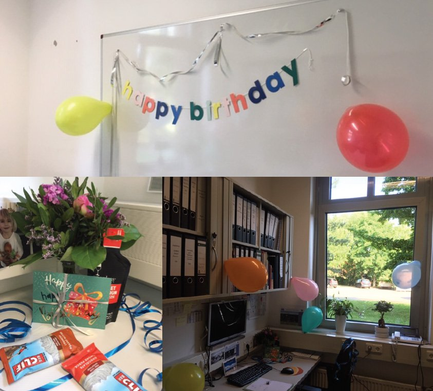 What a great welcome in the morning! 🙂My team decorated my office and gave me awesome gifts for my beloved hobby, mountain climbing! Best #team ever! Thank you so much Annasara, Fran, Jared, Koushik, Lisa, Pia, Rebecca, and Rina! #lovevirology #teamwork #gratitude