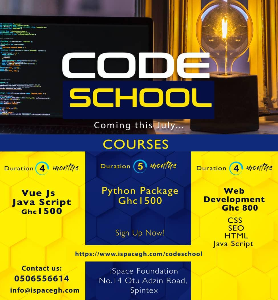 Register for this 4 months program to develop yourself and be mentored into becoming a #WebDeveloper, Software Engineer & CTO'S of startups/companies or enable you build your own #tech #innovative solutions.  Apply:  http://www. ispacegh.com/codeschool     #RewriteTheRules #Web2Day #Ghana<br>http://pic.twitter.com/80kJzQA8Ws