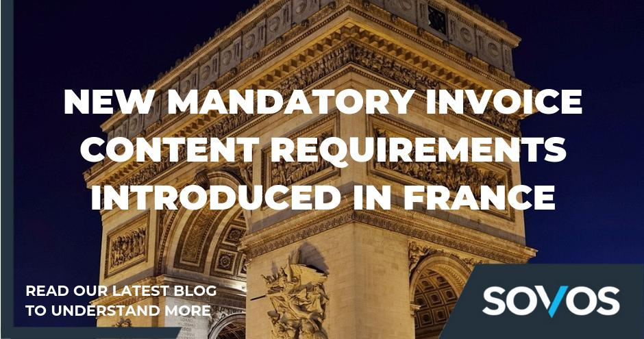 France has clarified their #invoicing rules, introducing two new mandatory content requirements. Learn more at: https://bit.ly/2WWDFc2