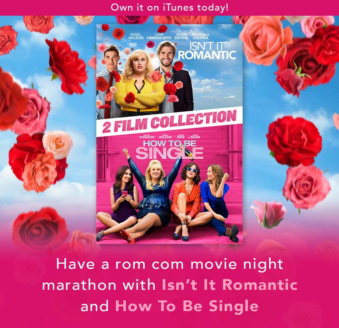What are your weekend plans? Have a rom-com movie night marathon with Isn't It Romantic and How To Be Single. Own it on iTunes today! https://wrbrs.ca/MovieNight