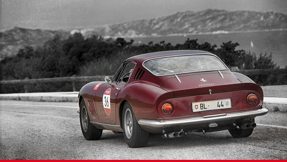 Classic taste and vintage flair seen on gorgeous roads. #Ferrari275GTB4 #Ferrari