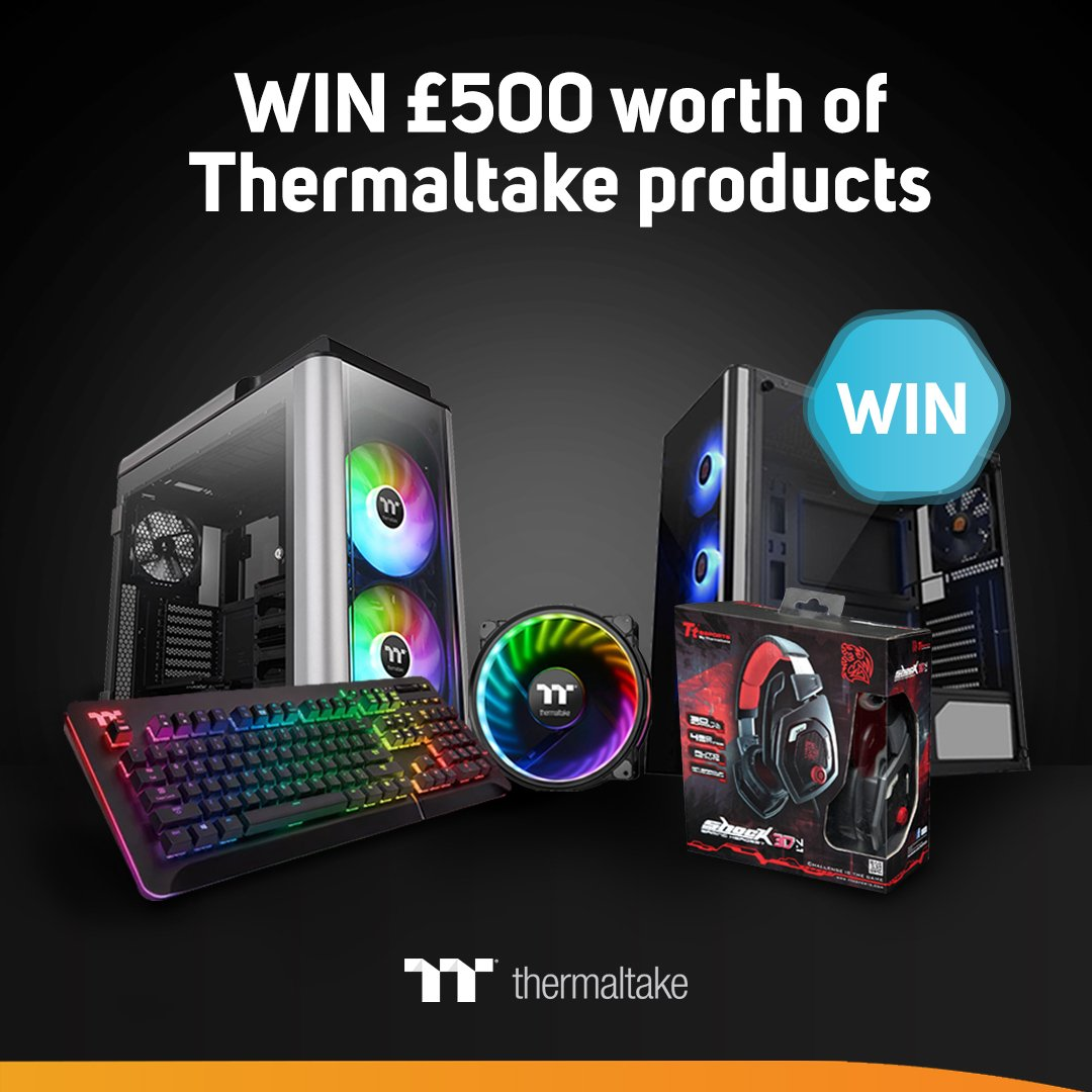 #WIN £500 of @Thermaltake products - YOU CHOOSE! in the @ScanComputers weekly #competition!  OPEN WORLDWIDE! Enter here: http://bit.ly/2Vw3Wd3    #giveaway #GiveawayAlert #PCMR #Thermaltake #Winit #ScanComp #FridayFeeling #fridayfreebie #friyay #LoveScan #PCsetup #pcgaming