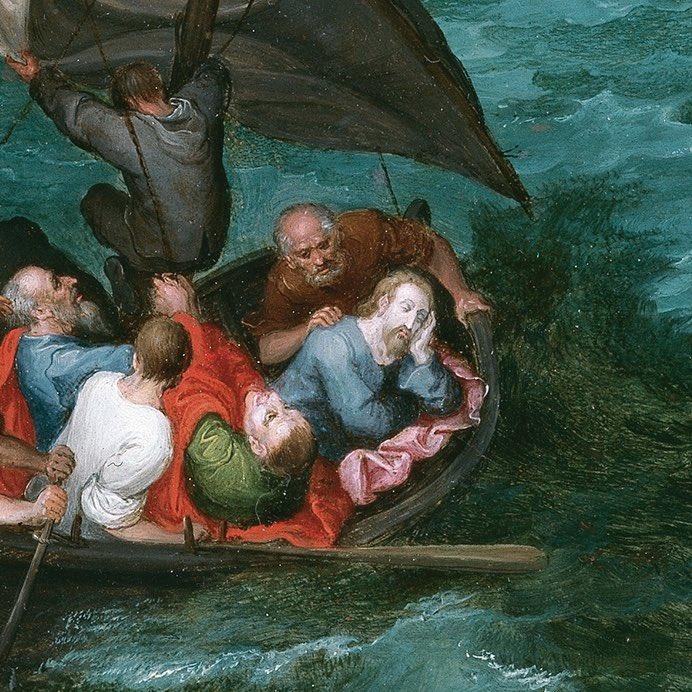 Jesús duerme en la barca