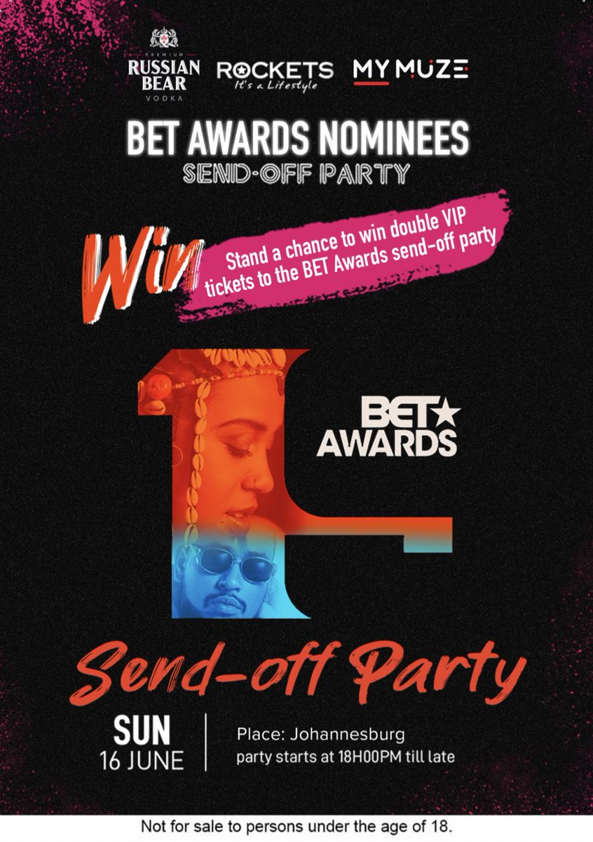 [WIN]  It's the last day to VOTE for your favorite why not WIN tickets to the send off party too?   We have 2 x Double VIP tickets for the fans to be won.   TO WIN: Show your votes for  @ShoMadjozi or support for @akaworldwide & tag your VIP buddy and your could win!   #BETAwards  <br>http://pic.twitter.com/uVA2S4EU46
