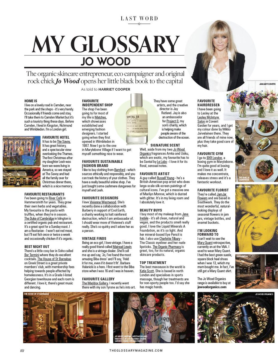 Organic entrepreneur and eco campaigner @JoWoodOfficial talks to The Glossary Magazine about her London life @coolearth @WeAreProject0 #sustainabilityissue https://t.co/0ynpt59DW5