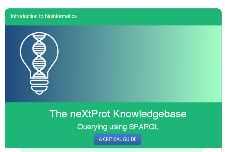A Critical Guide to the neXtProt knowledgebase: querying using           SPARQL. Now available from @F1000Research           https://f1000research.com/documents/8-791 @ISBSIB  Let us know if it's useful or if you need help!