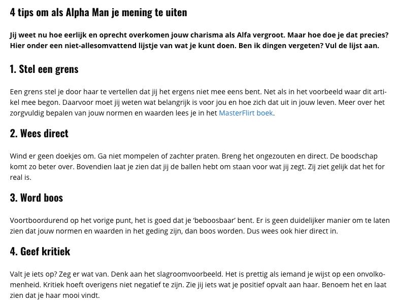 151e3a59b80 te leren hoe je een alfa en een romeo wordt (zagen jullie