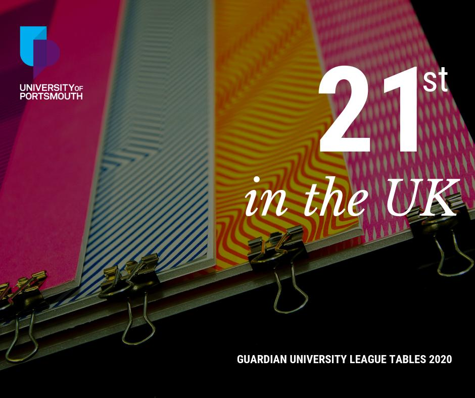 7ce6e02494c5f Always on the up! For the fifth year in a row we've risen in the @guardian  University League Table, and are now 21st in the UK.