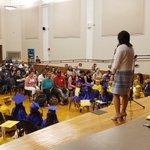 Image for the Tweet beginning: Happening now! Kindergarten graduation! We