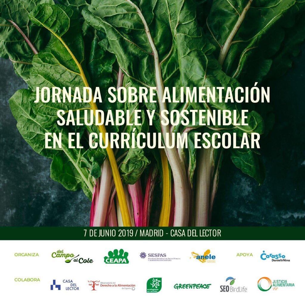 Hoy hemos organizado las primeras Jornadas sobre Alimentación Saludable y Sostenible en el currículum escolar junto a @CEAPA3 y @sespas Gracias a todas las personas y organizaciones partipantes. El año próximo más