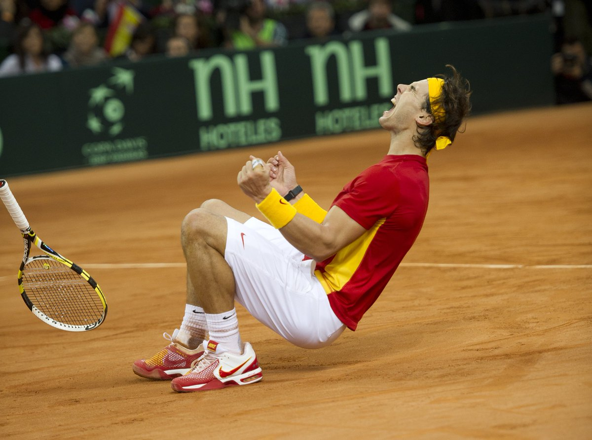 "Rafa Nadal : ""What's next?"" 💪 🇪🇸  @RafaelNadal | @spaintenis  #DavisCupMadridFinals"