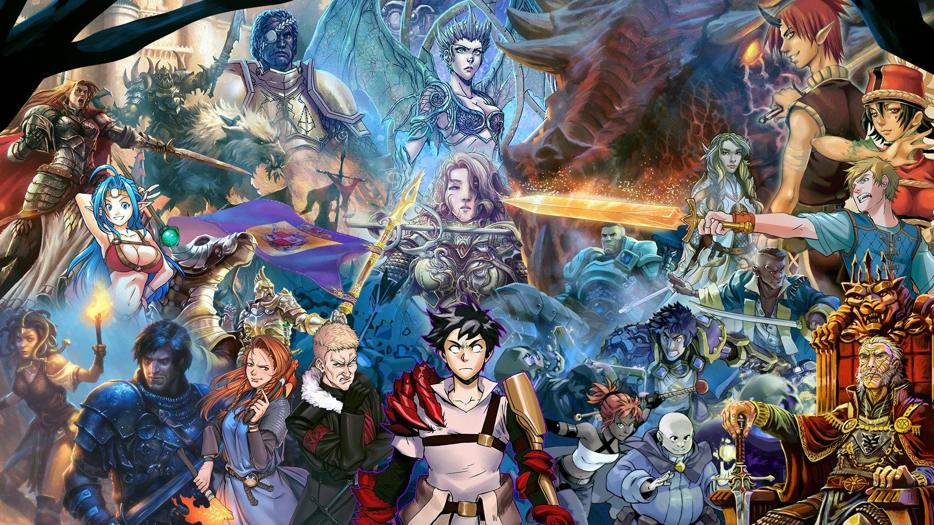 Personagens icônicos de Tormenta ilustram imagem promocional da campanha.