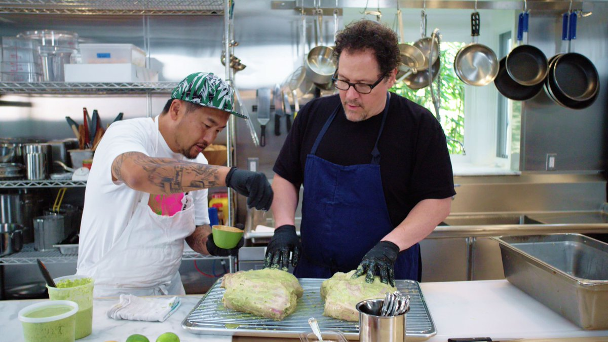 """Jon Favreau and Roy Choi bring their kitchen friendship (and a bunch of celebrity friends) to Netflix with """"The Chef Show"""" https://www.eater.com/2019/6/7/18655673/netflix-jon-favreau-roy-choi-the-chef-show?utm_campaign=eater&utm_content=chorus&utm_medium=social&utm_source=twitter…"""