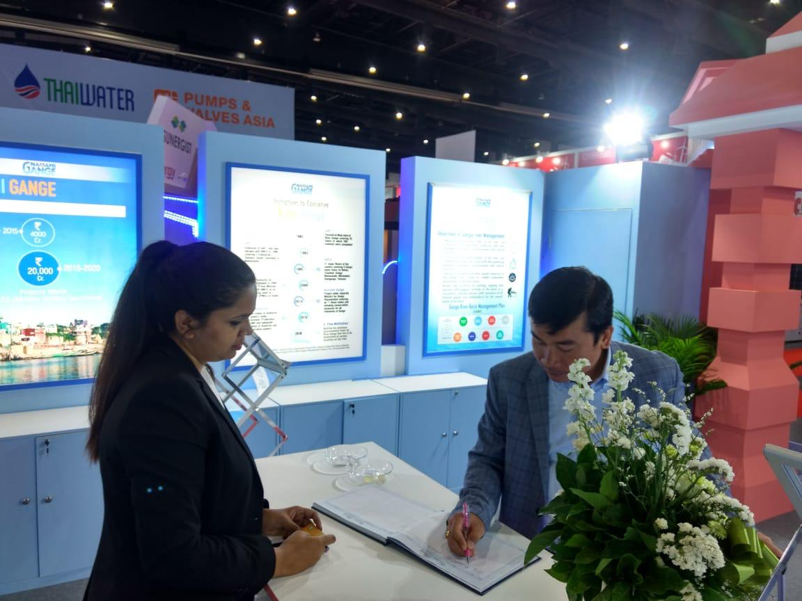 On day 2 of the #ThaiWaterExpo in Bangkok, the NMCG pavilion generated immense interest among the visitors. Several industry representatives visited the pavilion to know more about the initiatives being undertaken by the mission for cleaning and conserving the Ganga. #NamamiGange