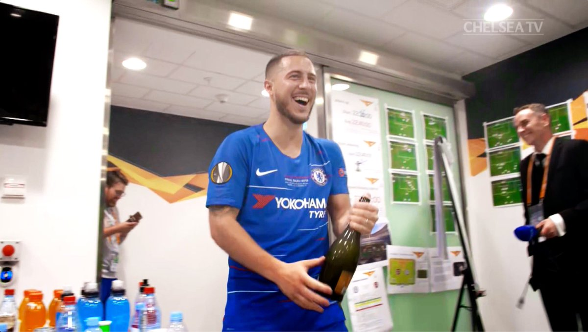 What a character! 😆 Enjoy some of @HazardEden10s best moments off the pitch at Chelsea... #ThankYouEden