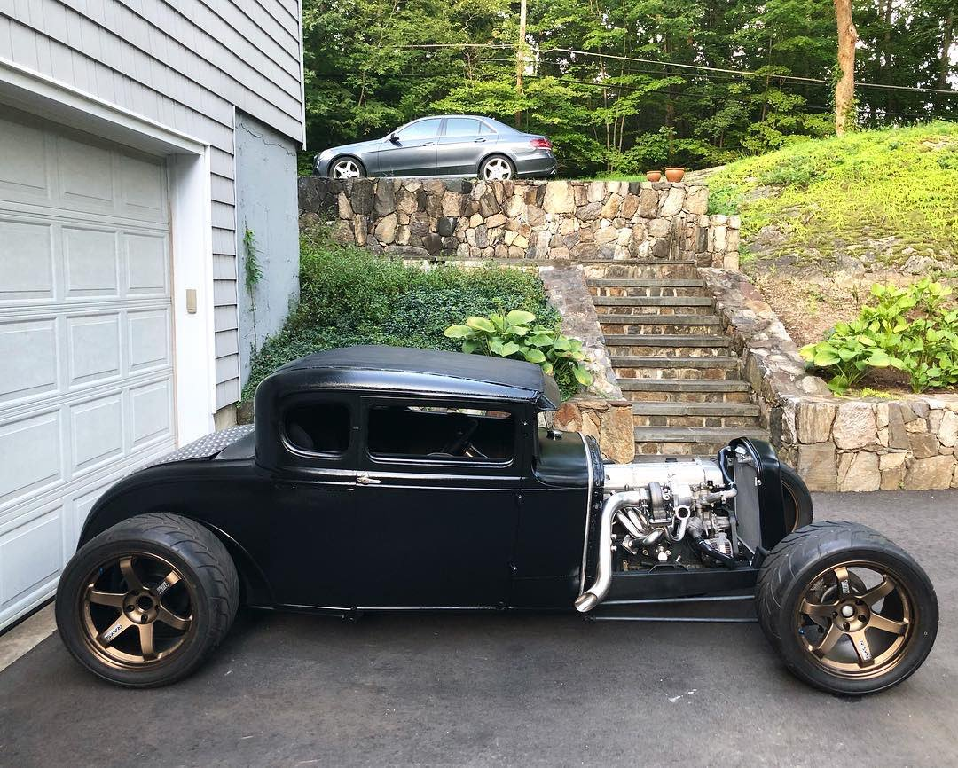 #Car Awesome of the Day: #Steampunk-ish ⚙️ Black #Ford Open Engine #HotRod 🔧 via @TurbologyLLC #SamaCars 🚗