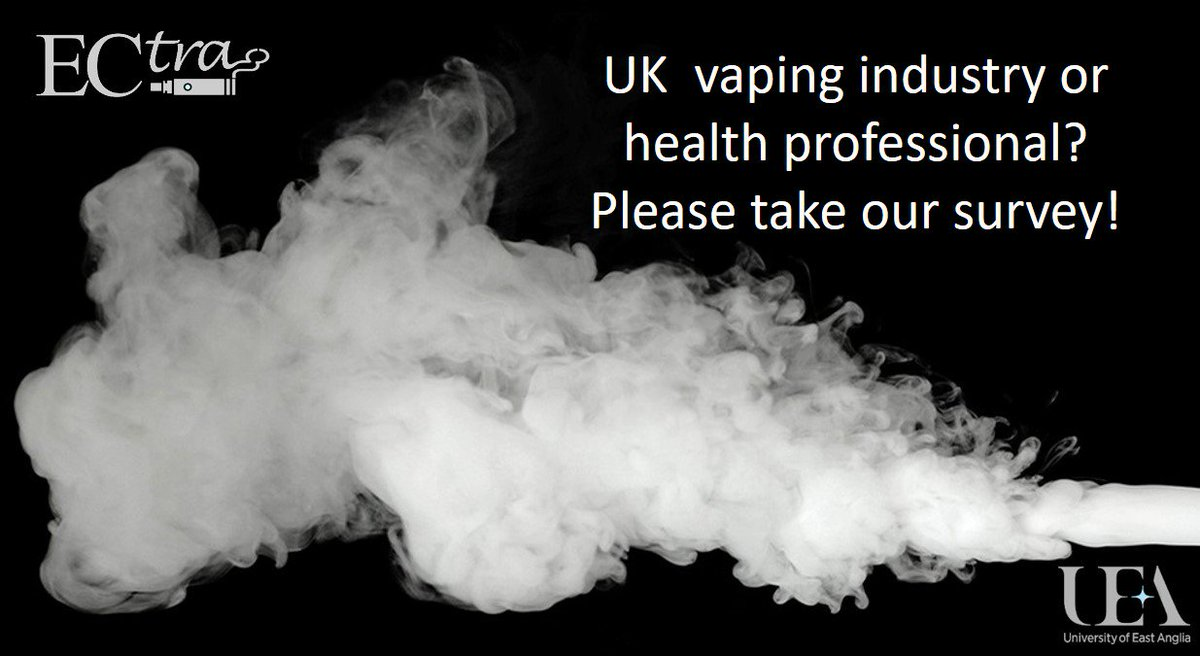 Do you work in the UK vaping industry? Or are you a UK health professional? Please take our survey to tell us your opinion on partnerships between healthcare providers and the vaping community https://survey.eu.qualtrics.com/jfe/form/SV_6Rkzgf6oDLHGFEN … #vaping #ecigarette