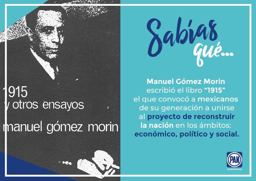 """Hoy en viernes de #SabíasQué, recordamos el libro """"1915 y otros ensayos"""", escrito por Manuel Gómez Morín"""