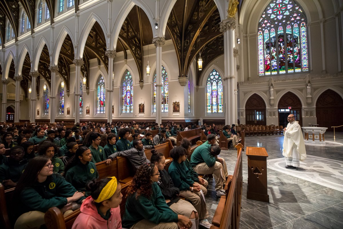 test Twitter Media - For the Solemnity of the Ascension of the Lord last Thursday, Cathedral High School and faculty celebrated the last Mass of the school year together in the Cathedral of the Holy Cross with Father Pablo Gomis, @BostonCathedral Parochial Vicar.  #RCABSchools | #GoFurtherWithFaith https://t.co/rMdXv7fuTN