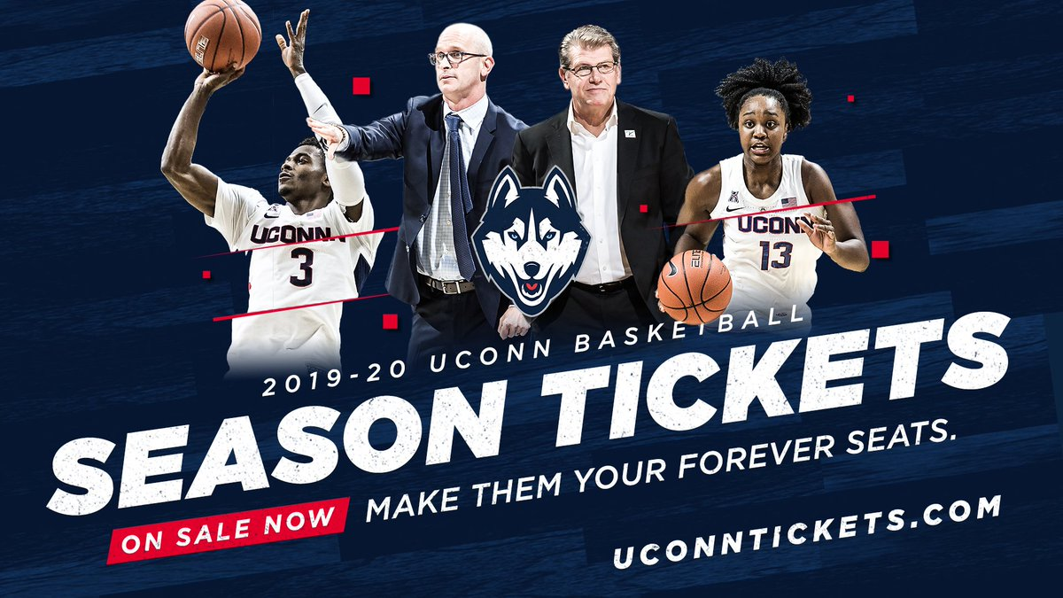 2019-20 🏀 season tickets are on sale now!  🎟️: http://UConnTickets.com
