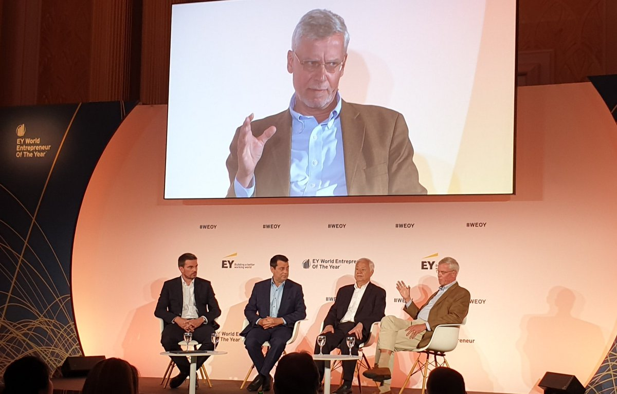#WEOY Family Enterprise closing session, moderated by Marnix van Rij, EY Global Family Enterprise Leader. Inspiring days at EY World Entrepreneur of the Year Summit in Monaco.