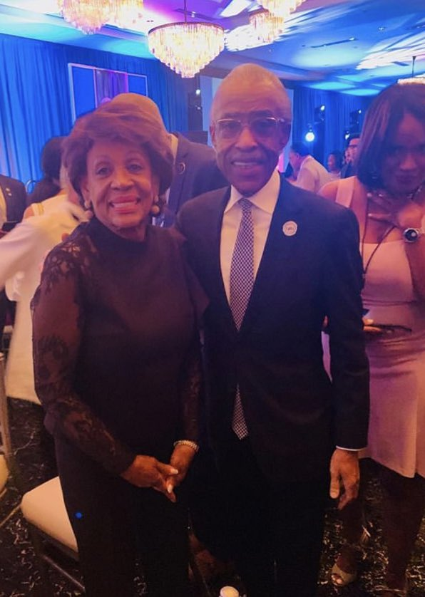 """Reverend Al Sharpton on Twitter: """"Congresswoman Maxine Waters and I last  night at the 2019 DNC African American Leadership gala.… """""""