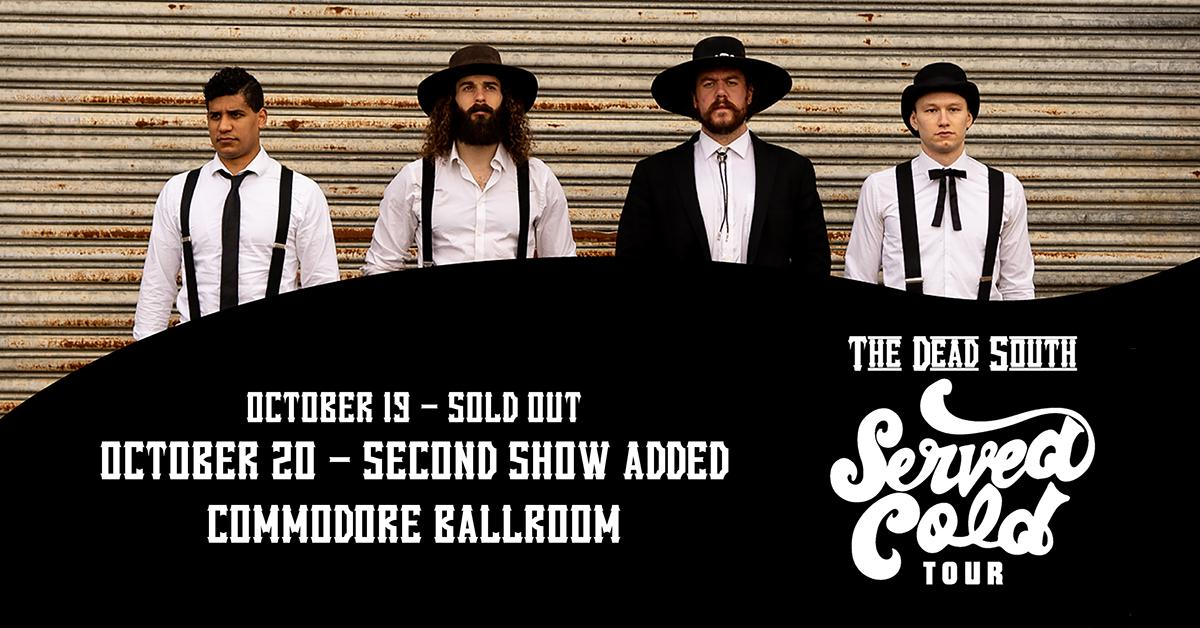 ON SALE 🎶 Due to popular demand, @TheDeadSouth4 have added an Oct. 20 show at the @CommodoreVCR! Get tickets now: http://bit.ly/2KFzOcO