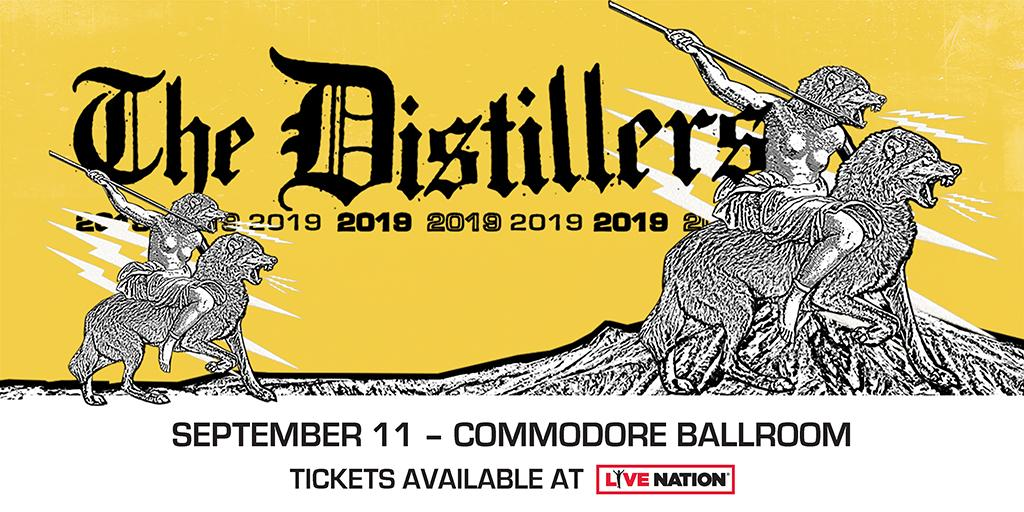 ON SALE 🎶 One year after their mighty sold-out return, @The_Distillers_ are back to play the @commodorevcr on Sept. 11! Get tickets now: http://bit.ly/2EYk0OL