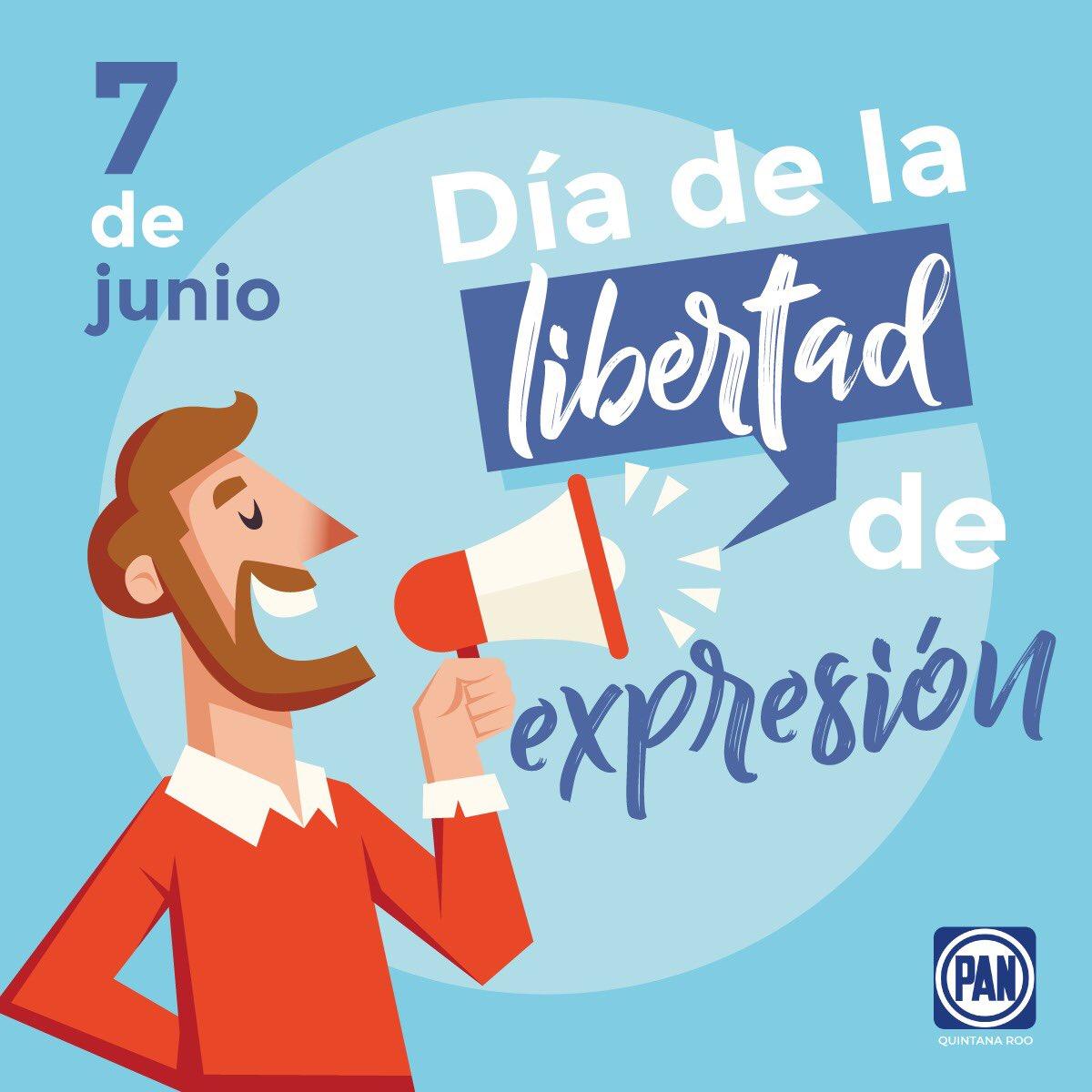 Expresar ideas, pensamientos y sentimientos a través de las palabras, la música, el cuerpo, el arte o cualquier medio es uno de los derechos fundamentales que se celebra este 7 de junio.🎤🎶🎨 #DíaDeLaLibertadDeExpresión
