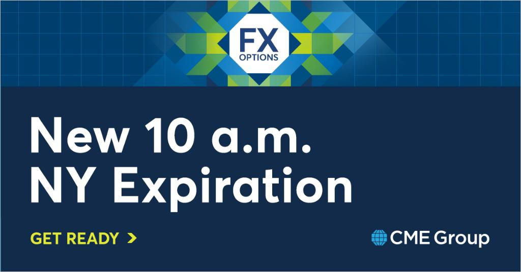 The 10 a.m. New York cut you know for FX options. Now with the capital efficiency and screen liquidity of CME FX. http://spr.ly/6018ElJC0