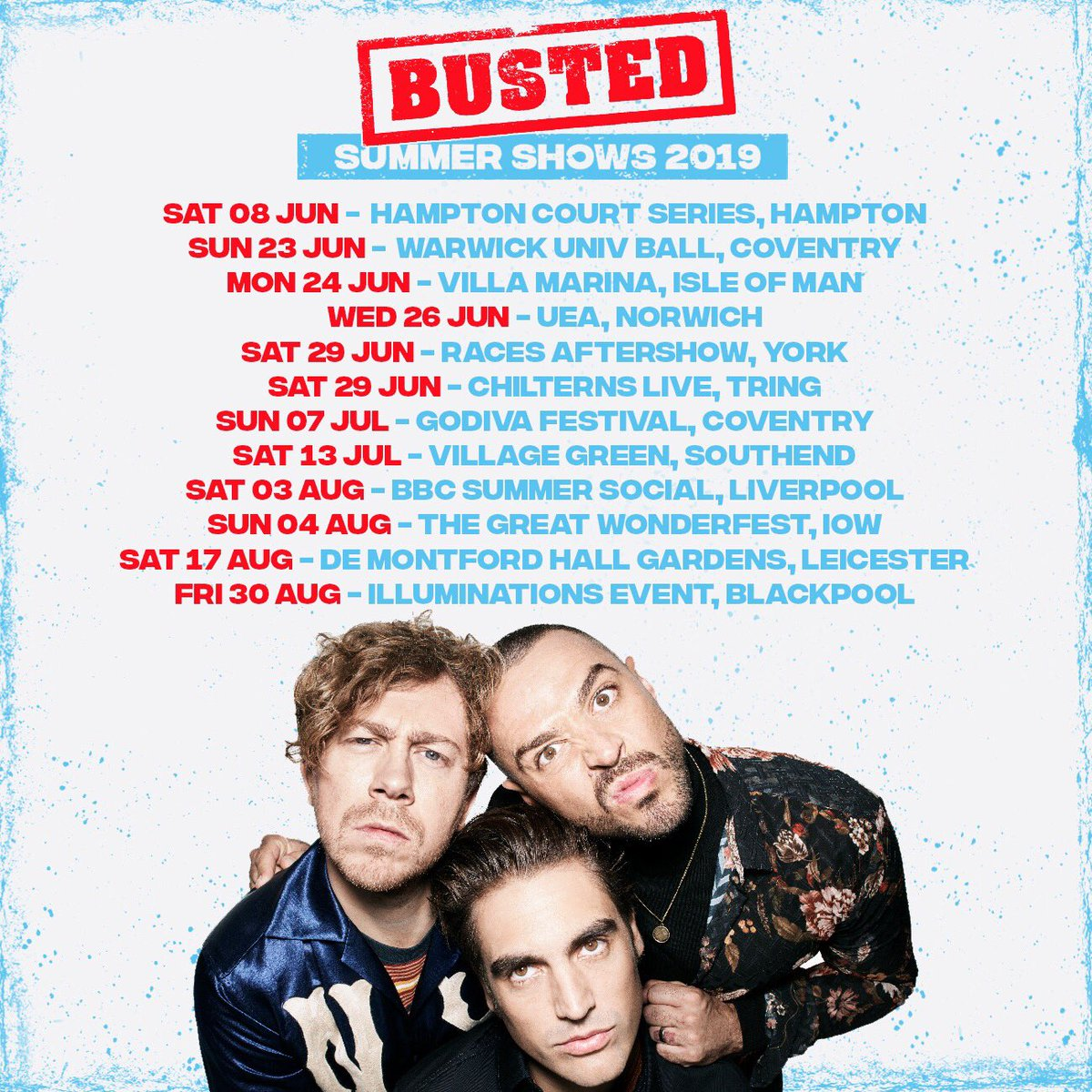 Busted Live UK Tour
