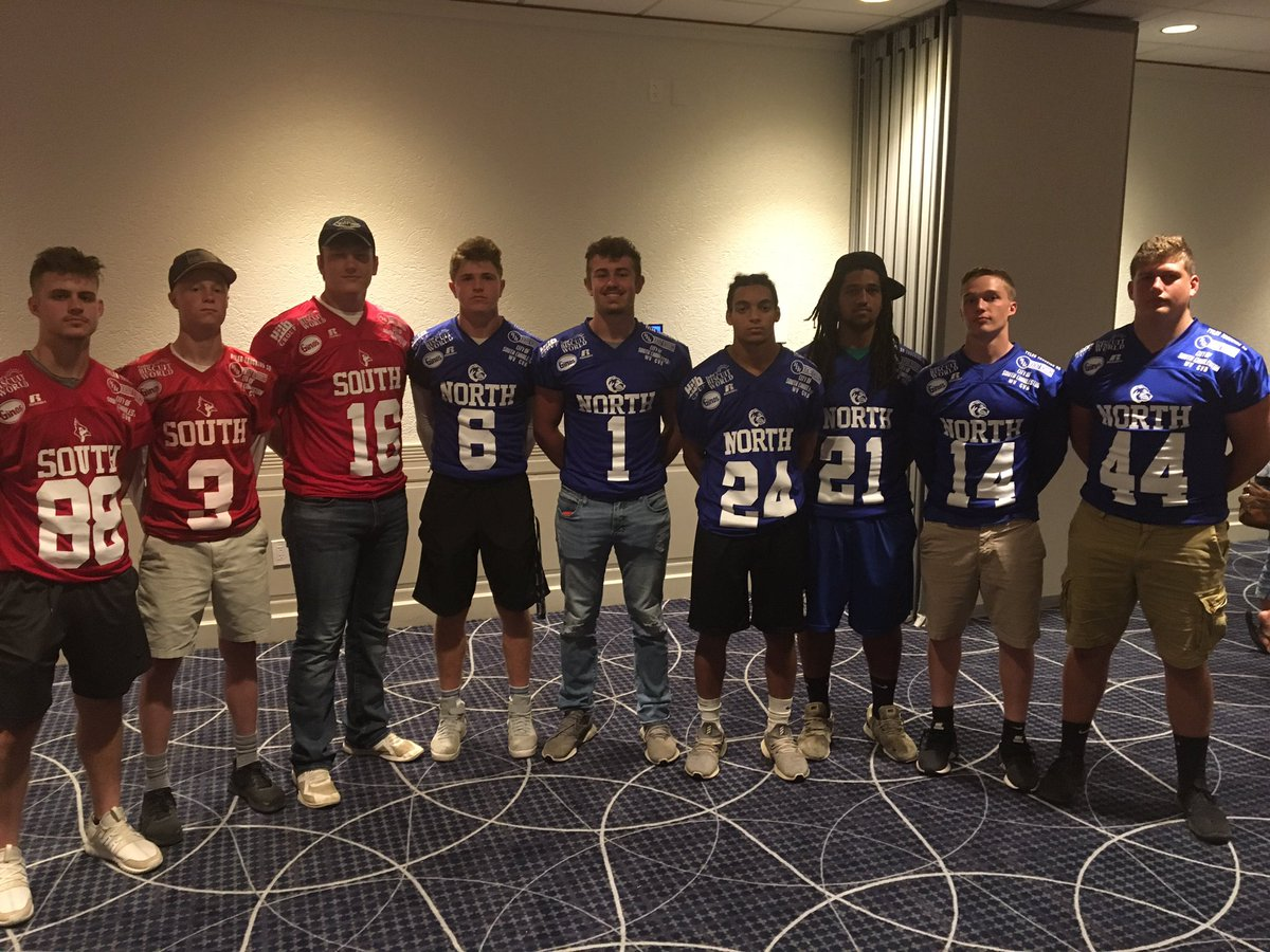 Glenville State signees representing at the North-South All-Star game. Can't wait till noon tomorrow!!!  @coach_kellar @GSCFootball @GSCpioneers @GSCActivities