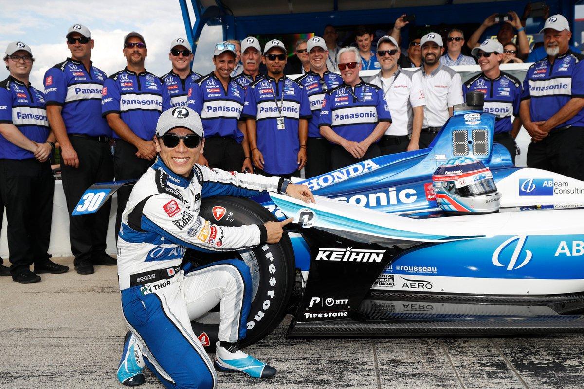 Congrats to @RLLracing & @TakumaSatoRacer on @IndyCar POLE at @TXMotorSpeedway! 🏁1⃣ @ABeamUSA @NTTDATAServices