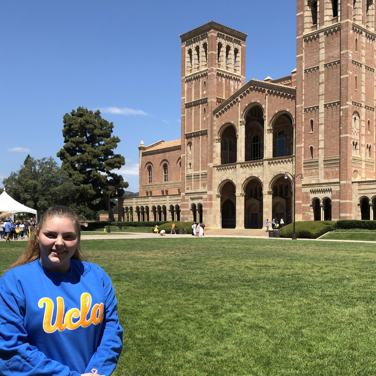 """Congrats to SMC student Hannah Cochran on transferring to .@UCLA as a sociology major! 💙 #ProudToBeSMC #UCLAbound #BruinTransfers """"SMC allowed me the extra time that I needed in order to figure out my educational situation and to also find out who I am!"""""""