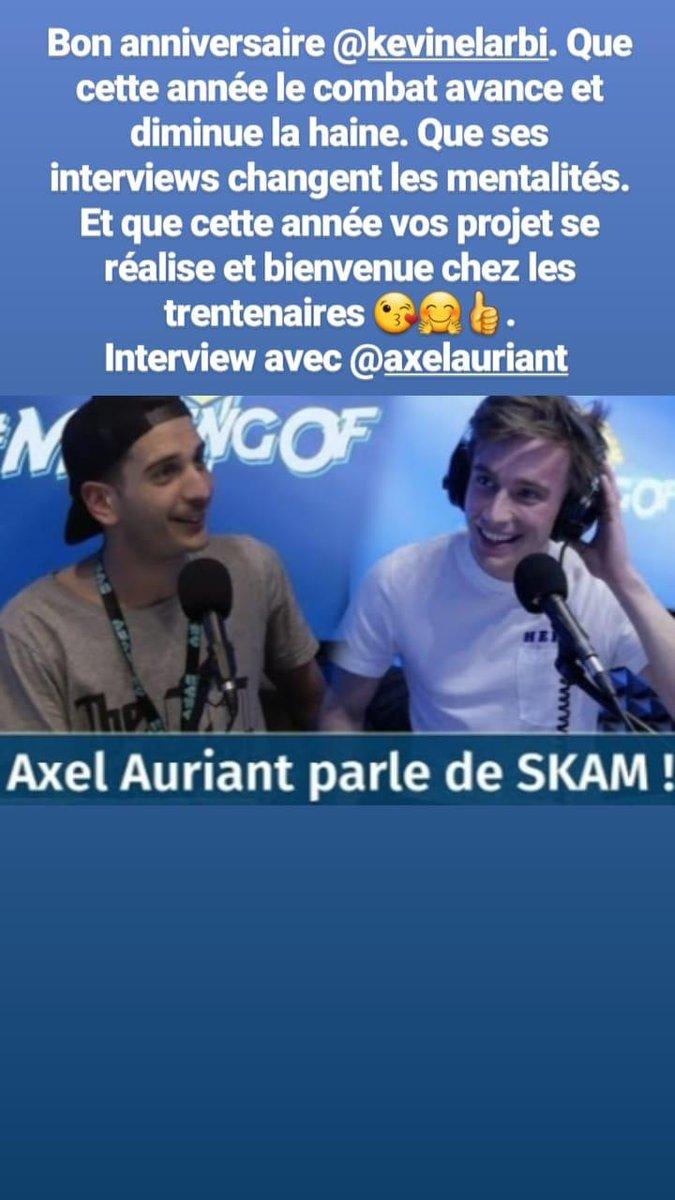 Bon anniversaire @KevinElarbi 🤗🤗 Interview magnifique @aauriantblot  #axelauriant #amour #Anniversaire #interview